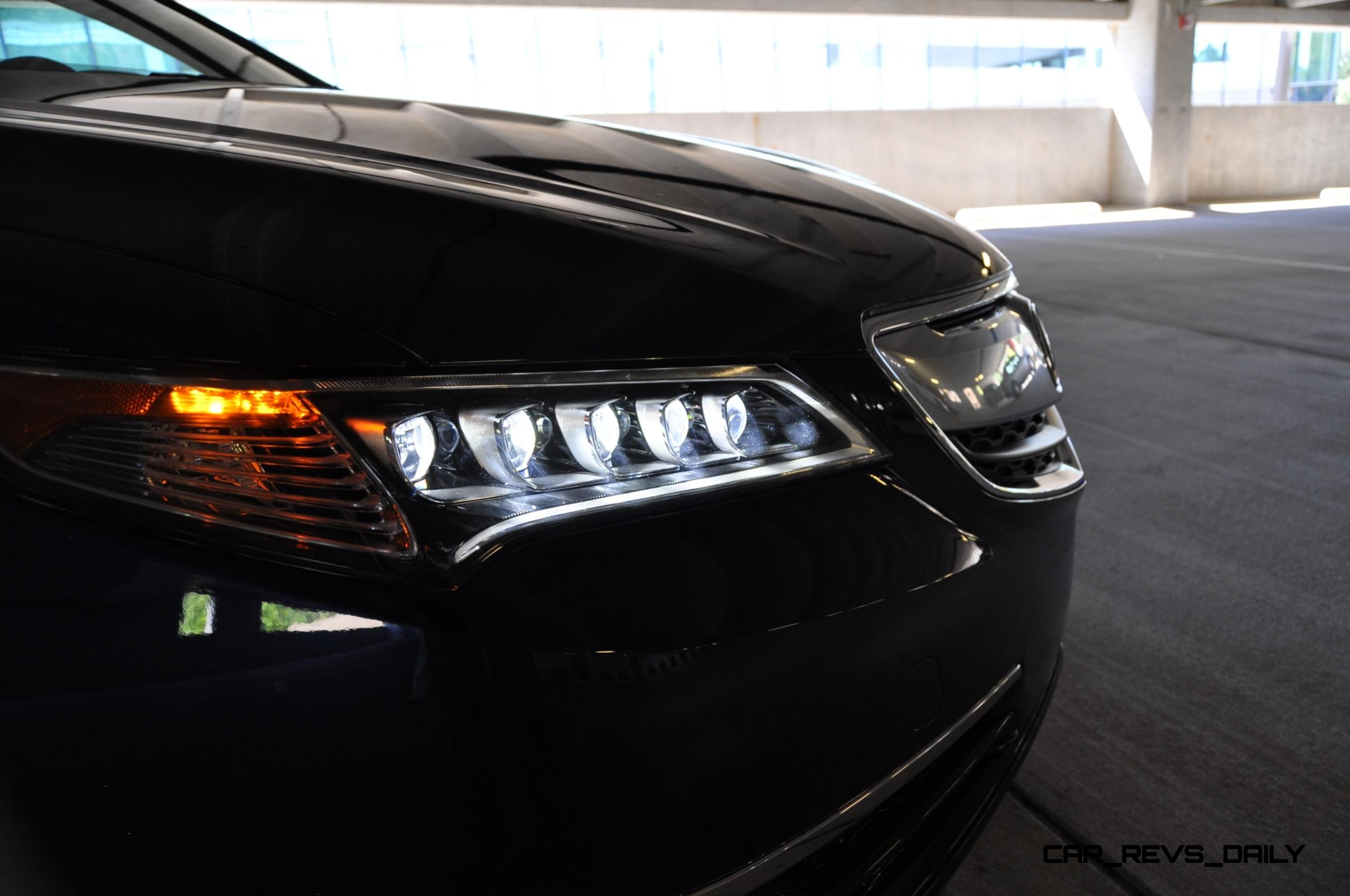 Road Test Review Acura TLX L Is Seriously Good Fun Quick - Acura tlx led headlights