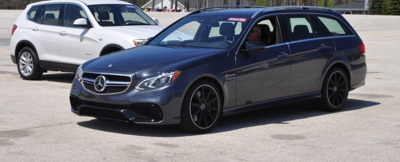 Car-Revs-Daily.com Road Tests the 2014 Mercedes-Benz E63 AMG S-Model Estate 85