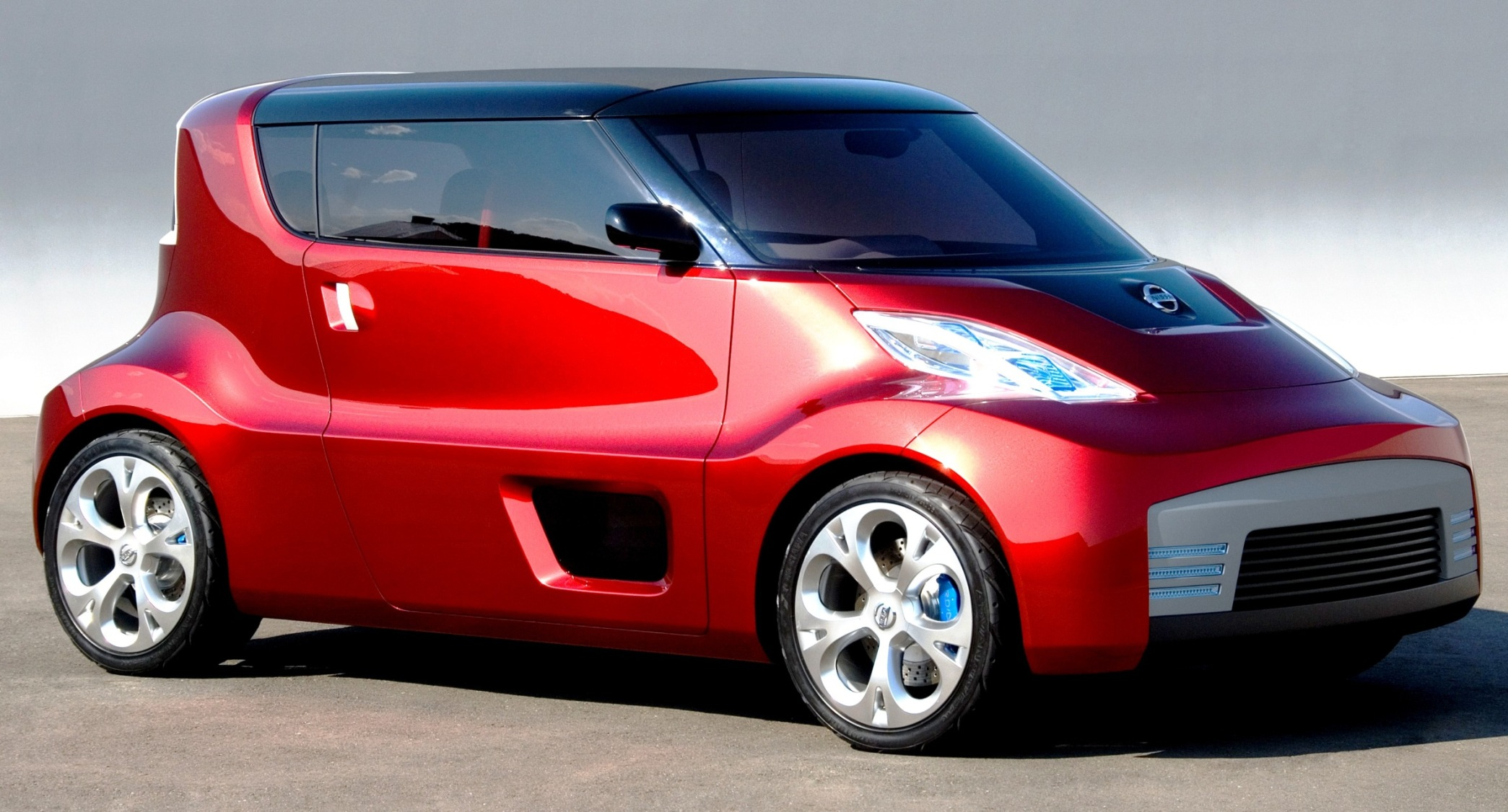concept flashback 2007 nissan round box is leaf cube iq roadster mashup. Black Bedroom Furniture Sets. Home Design Ideas