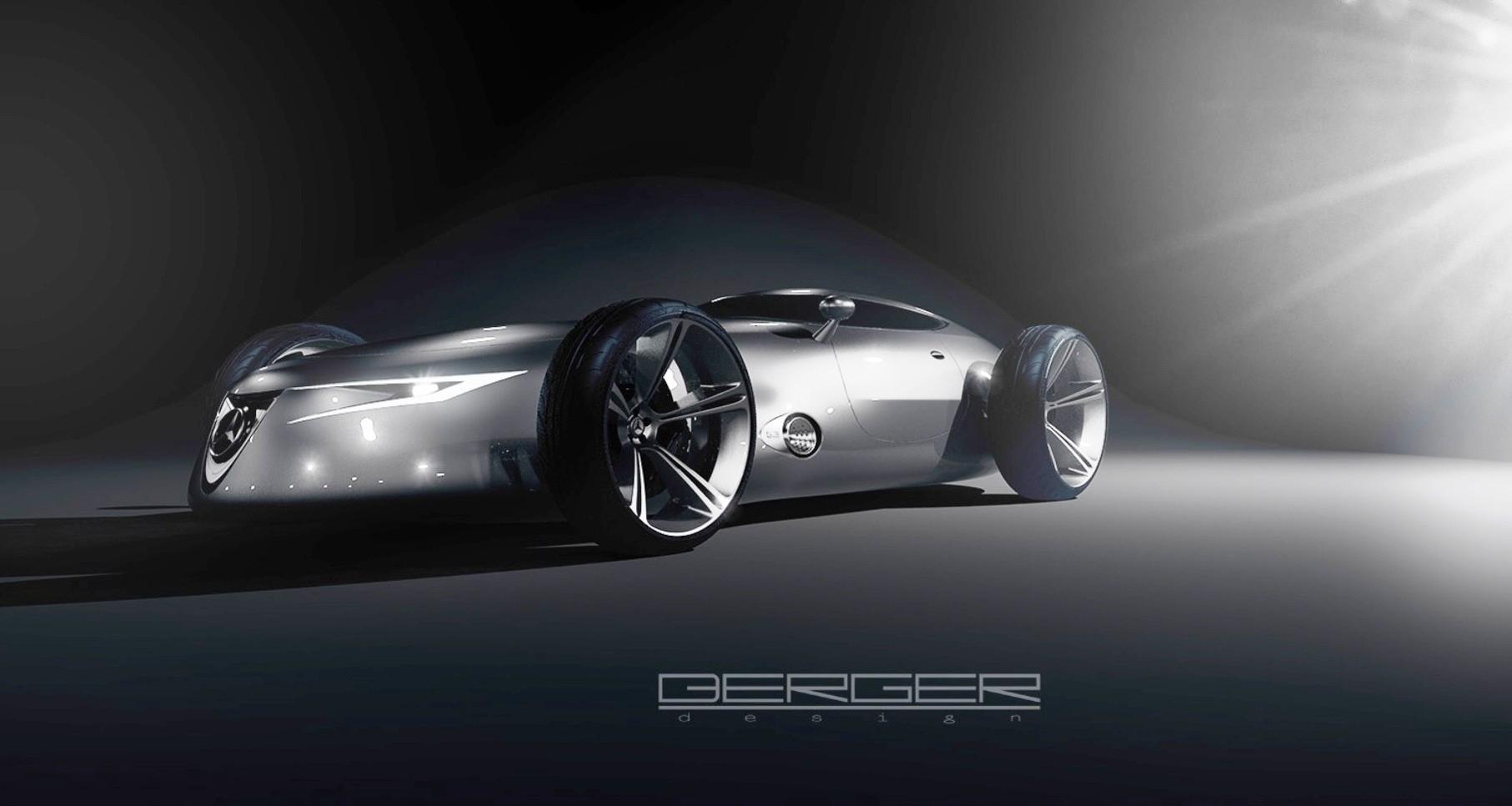 future mercedes-benz silver arrow racer concept pairs open wheels