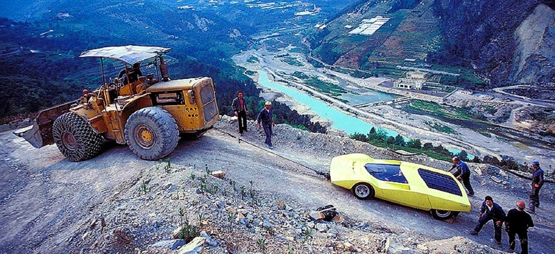Concept Flashback - 1969 Ferrari 512 S Coupe Speciale by Pininfarina in Leopard Onesite at Granite Mine 7