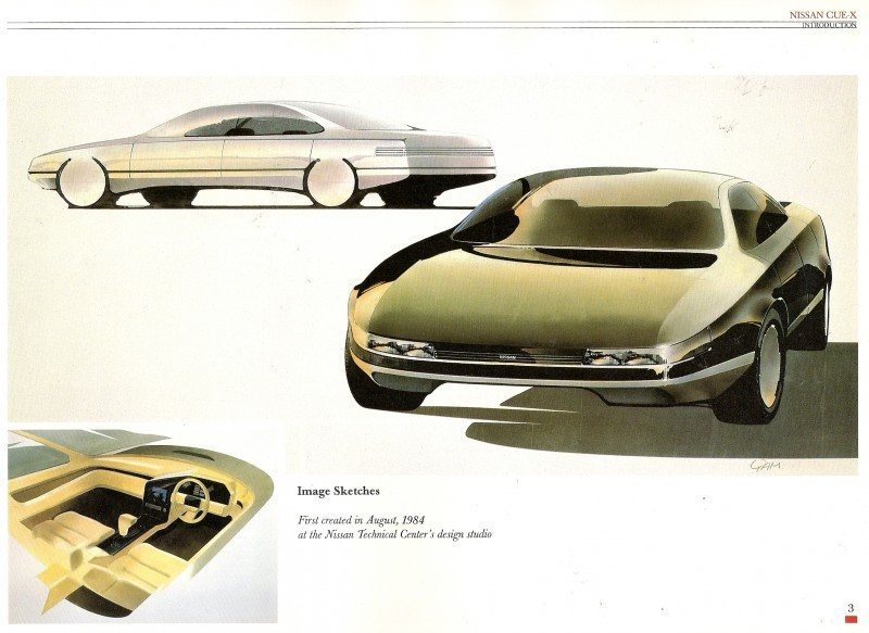 Concept Flashback - 1985 Nissan Cue-X Inspired Original Infiniti Q45 Flagship and Future Q80 2