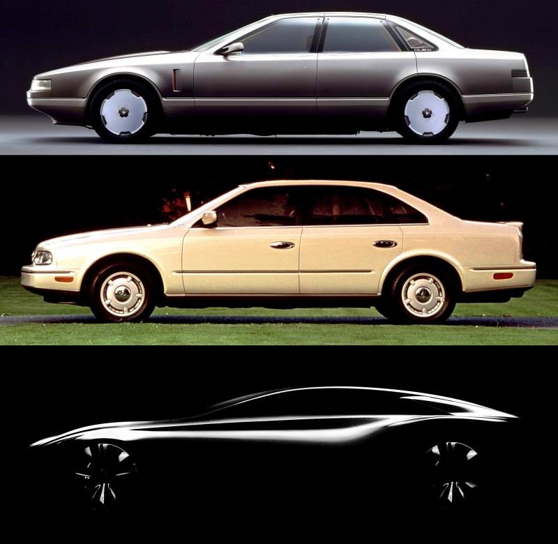 Concept Flashback - 1985 Nissan Cue-X Inspired Original Infiniti Q45 Flagship and Future Q80 222-vert