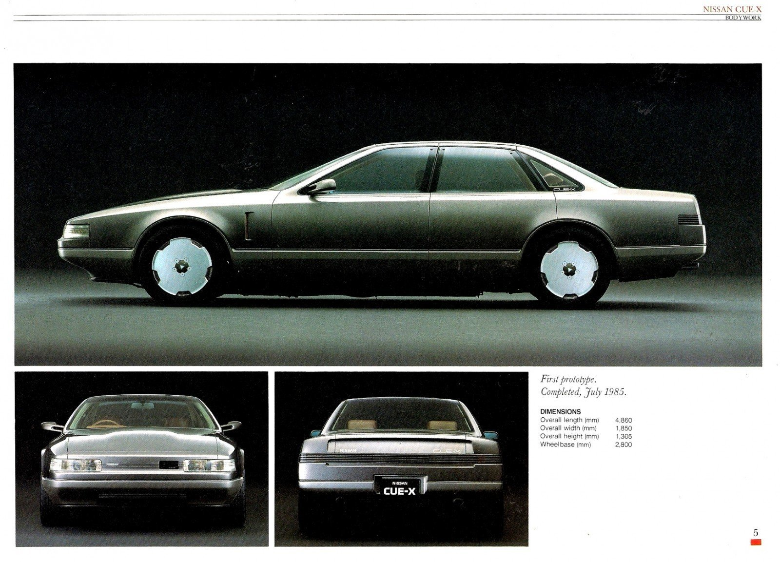 Concept Flashback - 1985 Nissan Cue-X Inspired Original Infiniti Q45 Flagship and Future Q80 3