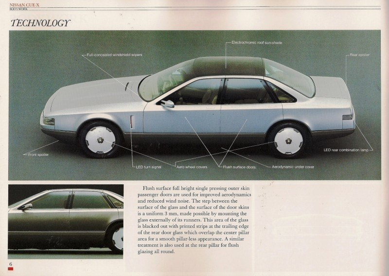 Concept Flashback - 1985 Nissan Cue-X Inspired Original Infiniti Q45 Flagship and Future Q80 5