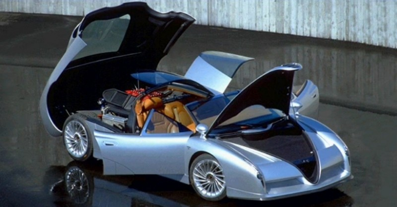 Concept Flashback - 1997 Alfa Romeo Scighera is Mid-Engine Twin-Turbo V6 Hypercar 1