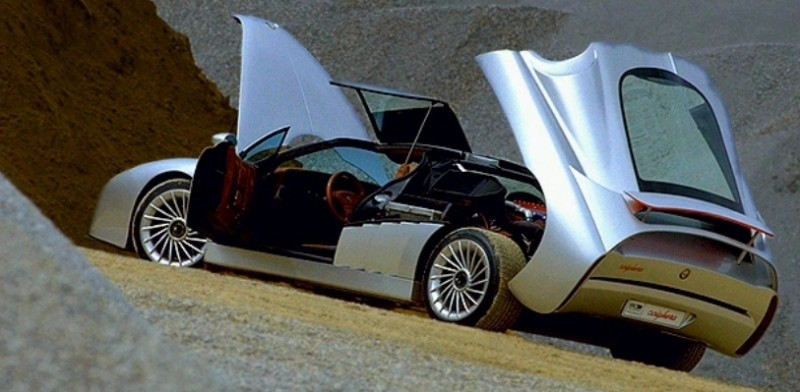Concept Flashback - 1997 Alfa Romeo Scighera is Mid-Engine Twin-Turbo V6 Hypercar 4