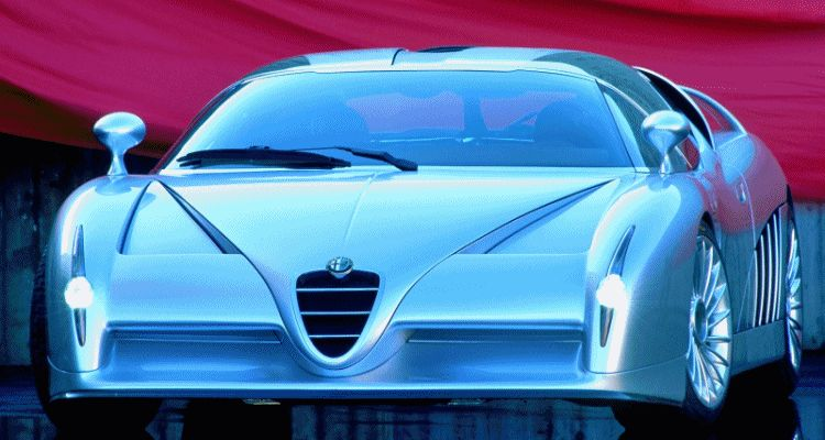 Concept Flashback - 1997 Alfa Romeo Scighera is Mid-Engine Twin-Turbo V6 Hypercar GIFheader