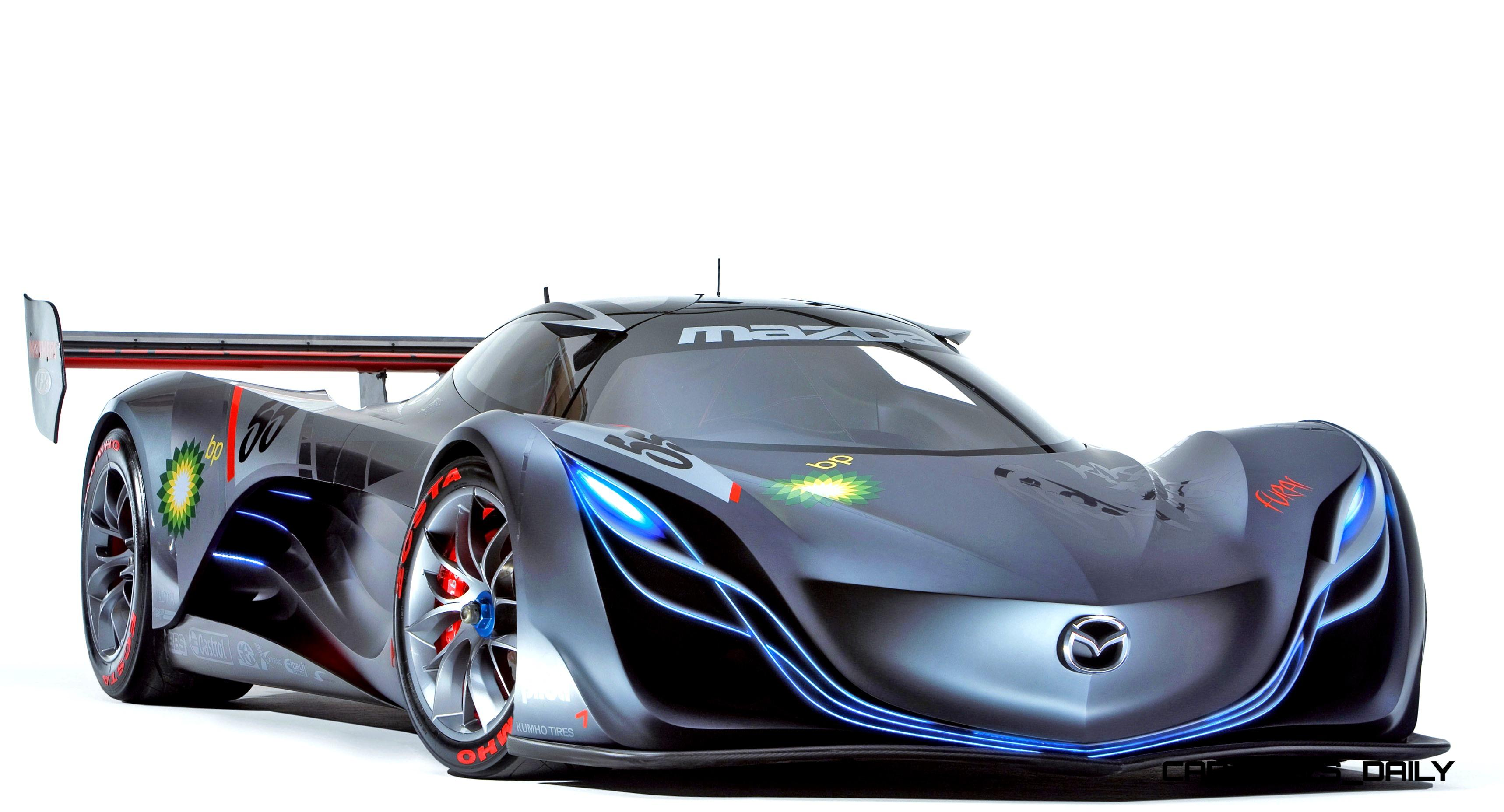 mazda furai fire. concept flashback 2008 mazda furai is 450hp rotary lmp2 car that met two tragic ends fire
