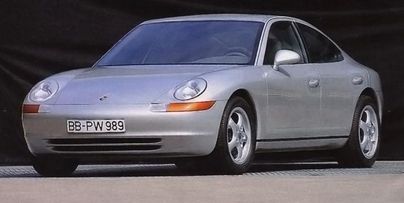 Creating The Porsche Sedan - 1988 Porsche 989 Panamera, 1991 Porsche 932, 1987 928 Studie and 1968 911 4-Door 14