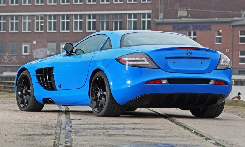 Cut48.de Adds Gloss to McLaren-Mercedes SLR With True Blue Foil Wrap 11