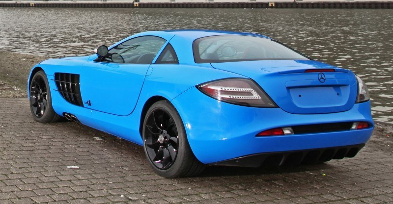 Cut48.de Adds Gloss to McLaren-Mercedes SLR With True Blue Foil Wrap 13