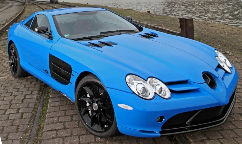 Cut48.de Adds Gloss to McLaren-Mercedes SLR With True Blue Foil Wrap 14