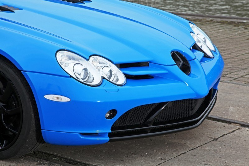 Cut48.de Adds Gloss to McLaren-Mercedes SLR With True Blue Foil Wrap 6