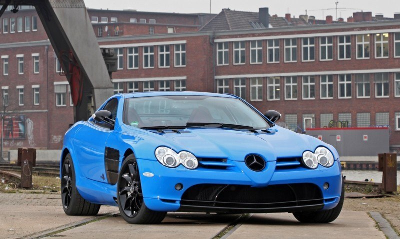 Cut48.de Adds Gloss to McLaren-Mercedes SLR With True Blue Foil Wrap 8