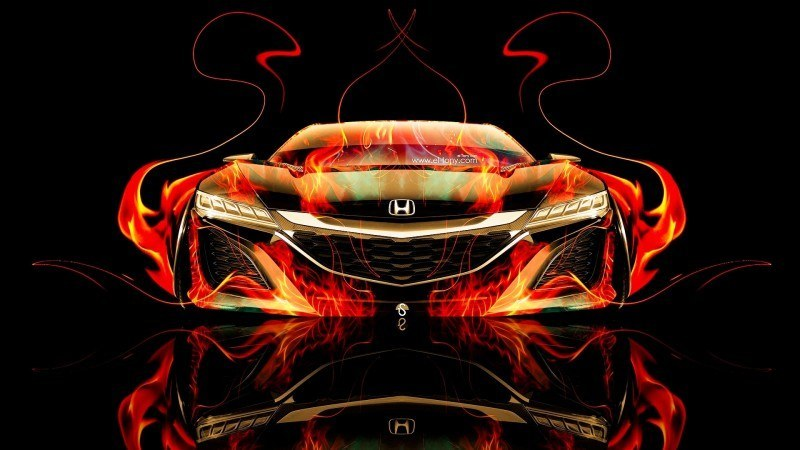 Design Talent Showcase - El-Tony.com Brings Sensual Elements Fire and Water to YOUR Car Wallpapers 11
