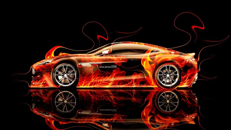 Design Talent Showcase - El-Tony.com Brings Sensual Elements Fire and Water to YOUR Car Wallpapers 1