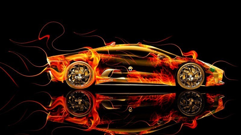 Design Talent Showcase - El-Tony.com Brings Sensual Elements Fire and Water to YOUR Car Wallpapers 17