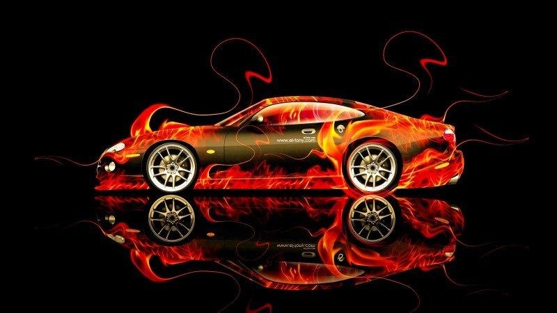 Design Talent Showcase - El-Tony.com Brings Sensual Elements Fire and Water to YOUR Car Wallpapers 18