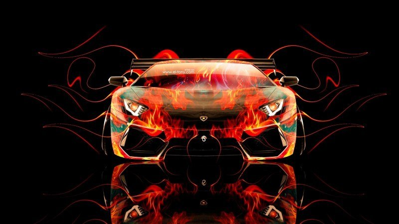 Design Talent Showcase - El-Tony.com Brings Sensual Elements Fire and Water to YOUR Car Wallpapers 19