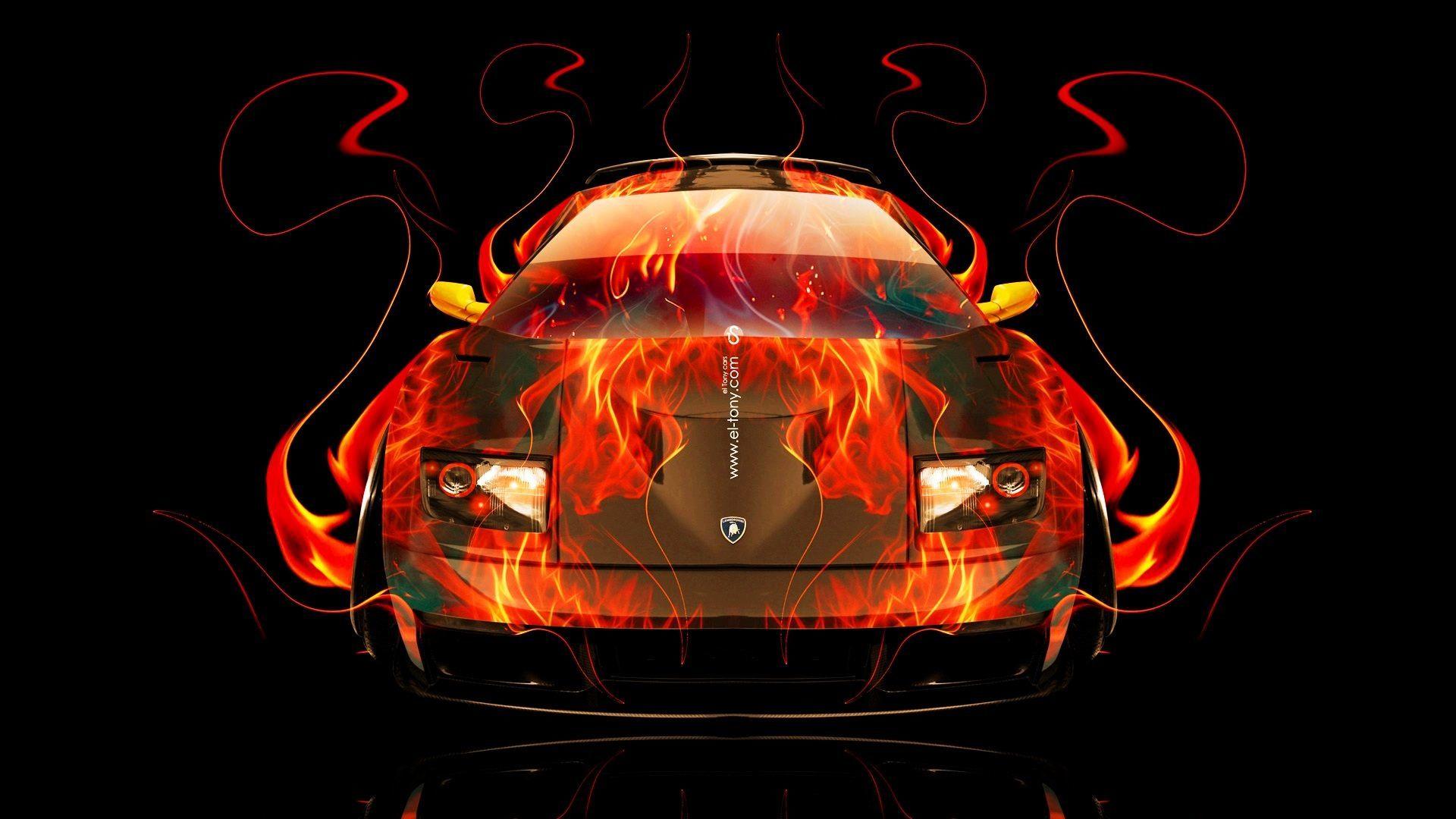 Design Talent Showcase El Tony Com Brings Sensual Elements Fire And Water To Your Car Wallpapers
