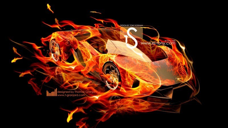 Design Talent Showcase - El-Tony.com Brings Sensual Elements Fire and Water to YOUR Car Wallpapers 21