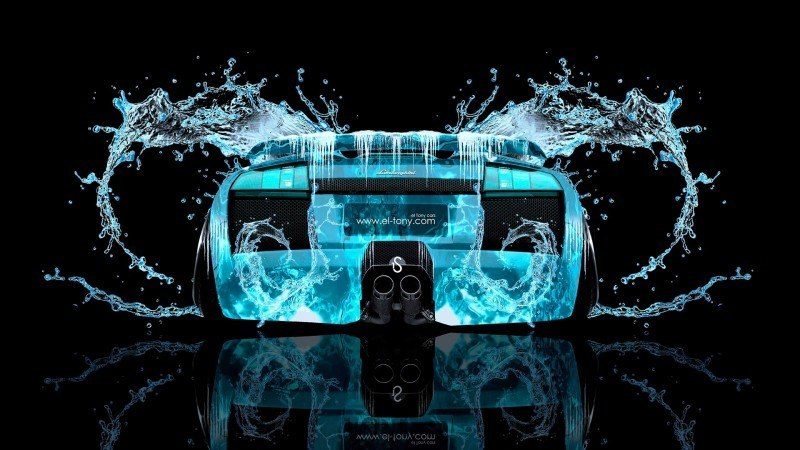 Design Talent Showcase - El-Tony.com Brings Sensual Elements Fire and Water to YOUR Car Wallpapers 24