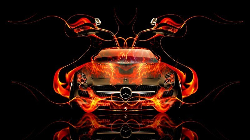 Design Talent Showcase - El-Tony.com Brings Sensual Elements Fire and Water to YOUR Car Wallpapers 30