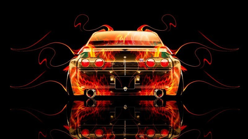 Design Talent Showcase - El-Tony.com Brings Sensual Elements Fire and Water to YOUR Car Wallpapers 33
