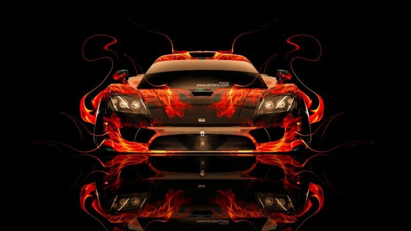 Design Talent Showcase - El-Tony.com Brings Sensual Elements Fire and Water to YOUR Car Wallpapers 36