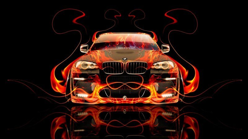 Design Talent Showcase - El-Tony.com Brings Sensual Elements Fire and Water to YOUR Car Wallpapers 4