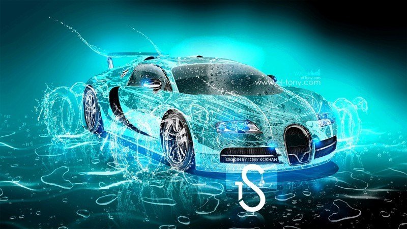 Design Talent Showcase - El-Tony.com Brings Sensual Elements Fire and Water to YOUR Car Wallpapers 5