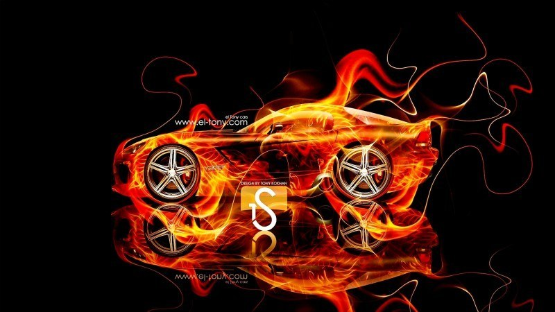 Design Talent Showcase - El-Tony.com Brings Sensual Elements Fire and Water to YOUR Car Wallpapers 6