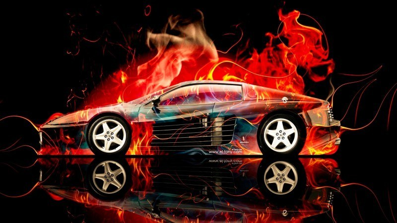 Design Talent Showcase - El-Tony.com Brings Sensual Elements Fire and Water to YOUR Car Wallpapers 8