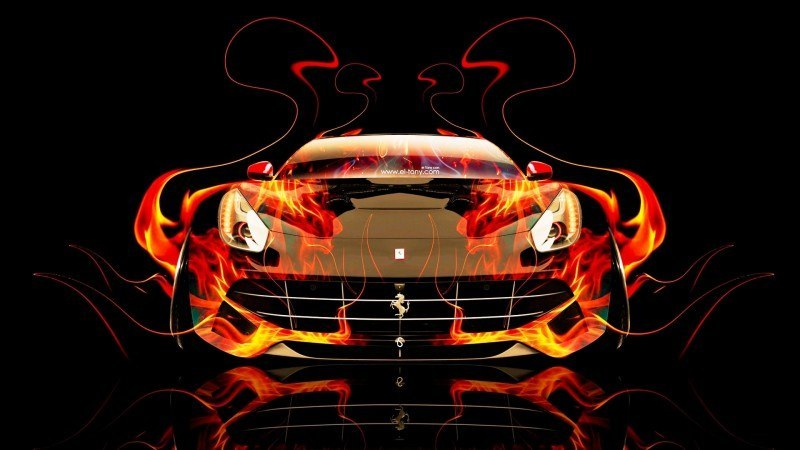 Design Talent Showcase - El-Tony.com Brings Sensual Elements Fire and Water to YOUR Car Wallpapers 9