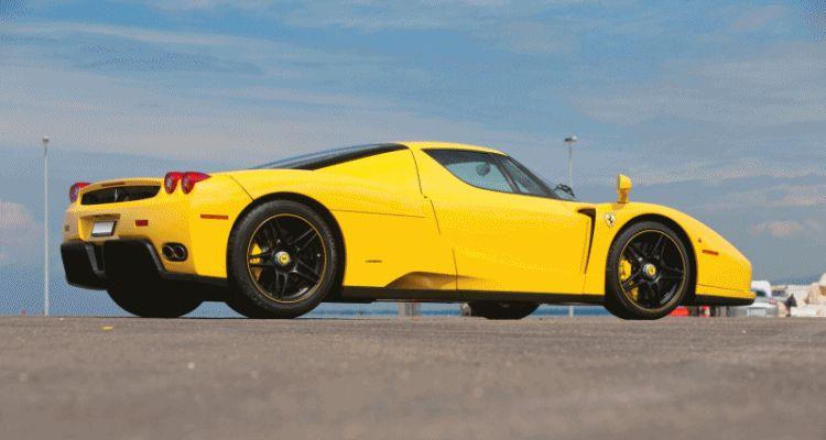 Enzo Ferrari Yellow gif header