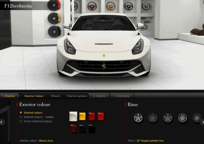 F12 Berlinette COLORS animation front  GIF1