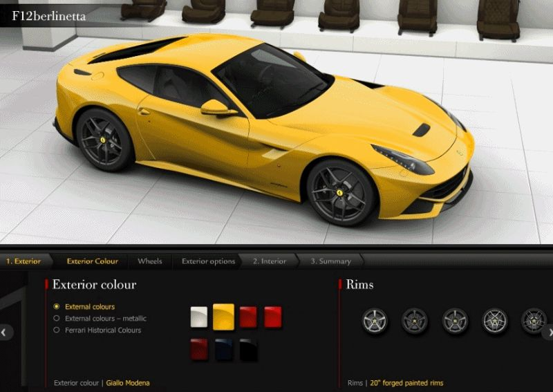 F12 Berlinette COLORS animation front side height GIF1