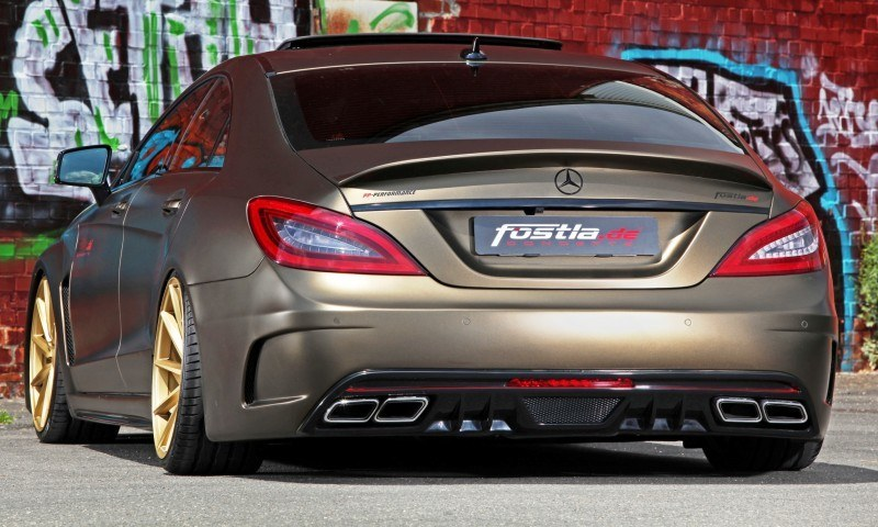 FOSTLA.de Foliation Designs A Wild Mercedes-Benz CLS in Metallic Gold Matte 17
