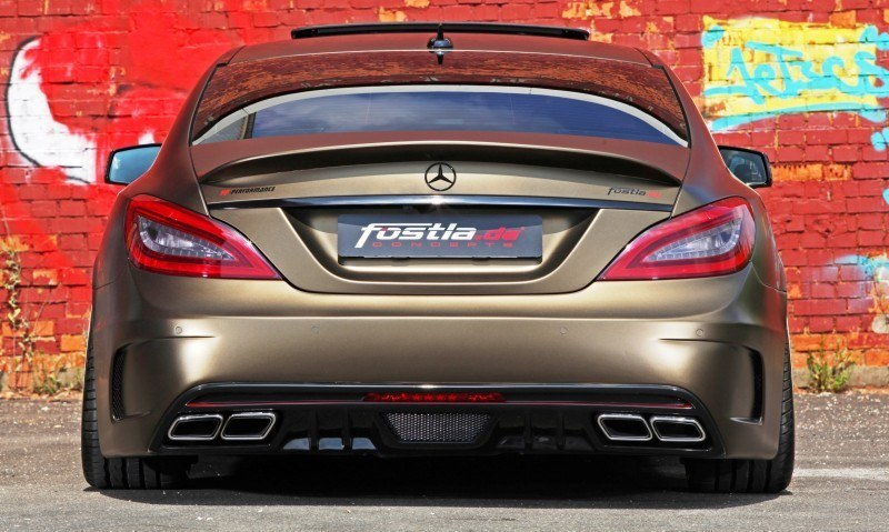 FOSTLA.de Foliation Designs A Wild Mercedes-Benz CLS in Metallic Gold Matte 18