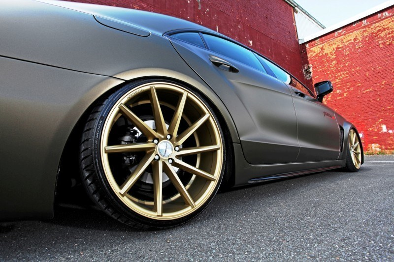 FOSTLA.de Foliation Designs A Wild Mercedes-Benz CLS in Metallic Gold Matte 3