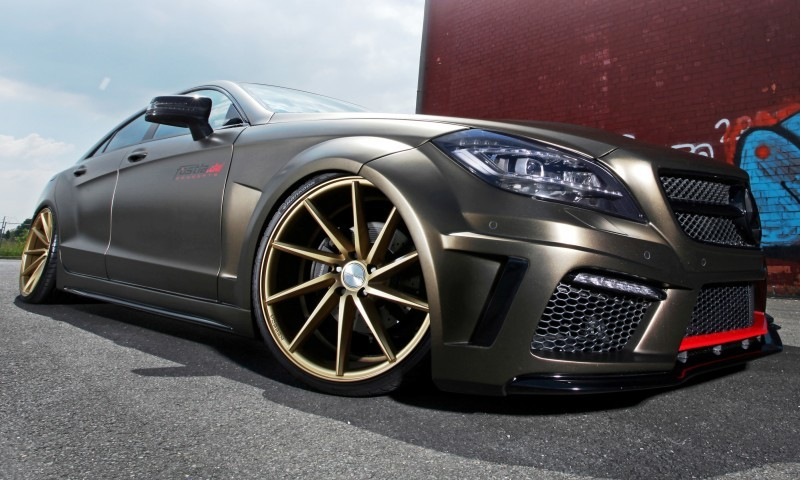FOSTLA.de Foliation Designs A Wild Mercedes-Benz CLS in Metallic Gold Matte 5