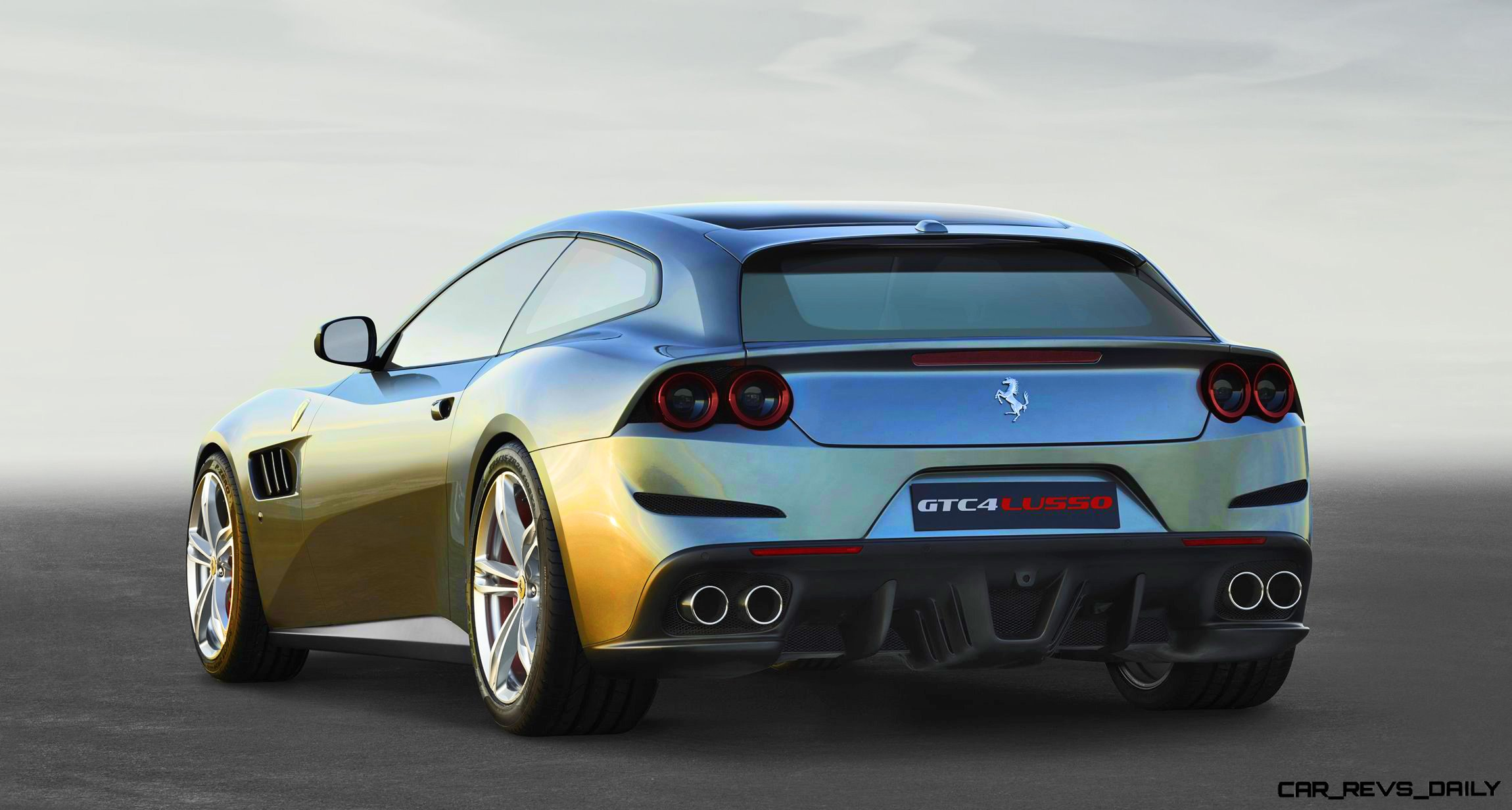 3.2s, 207MPH 2017 Ferrari GTC4 Lusso!  V12 4WD Now Adds 4WS In Full Redesign