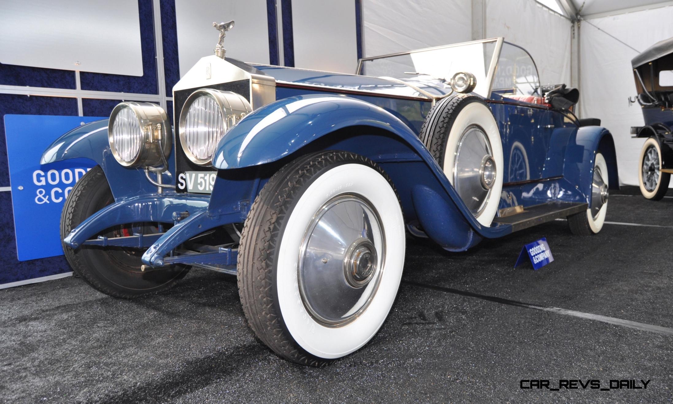 gooding pebble beach 2014 highlights 1926 rolls royce silver ghost playboy roadster car revs daily com