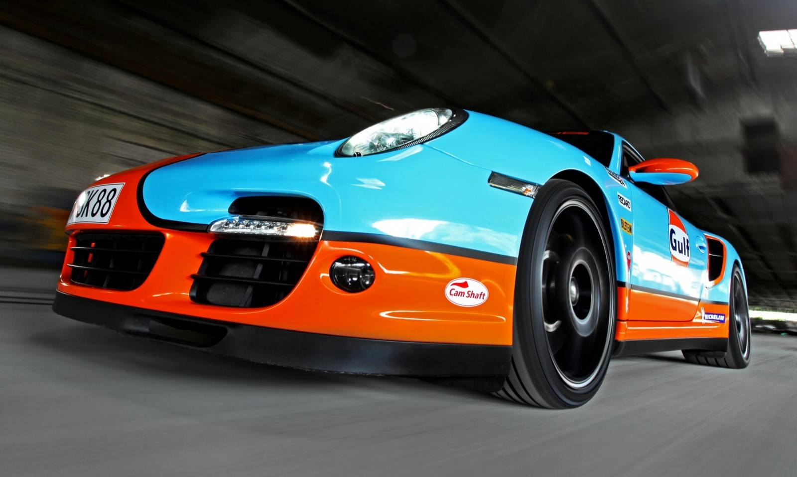 Gulf Racing Livery by CAM SHAFT for the Porsche 911 Turbo 11