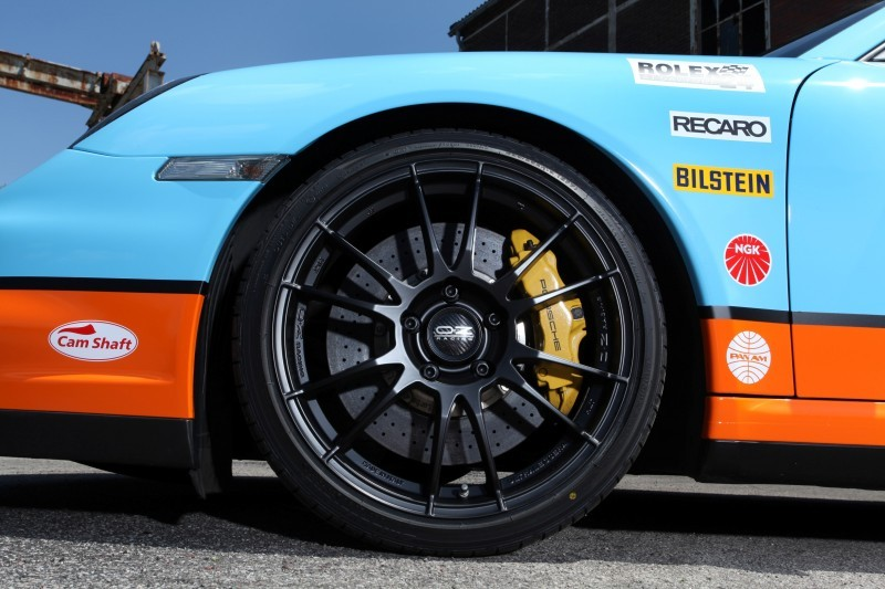 Gulf Racing Livery by CAM SHAFT for the Porsche 911 Turbo 18