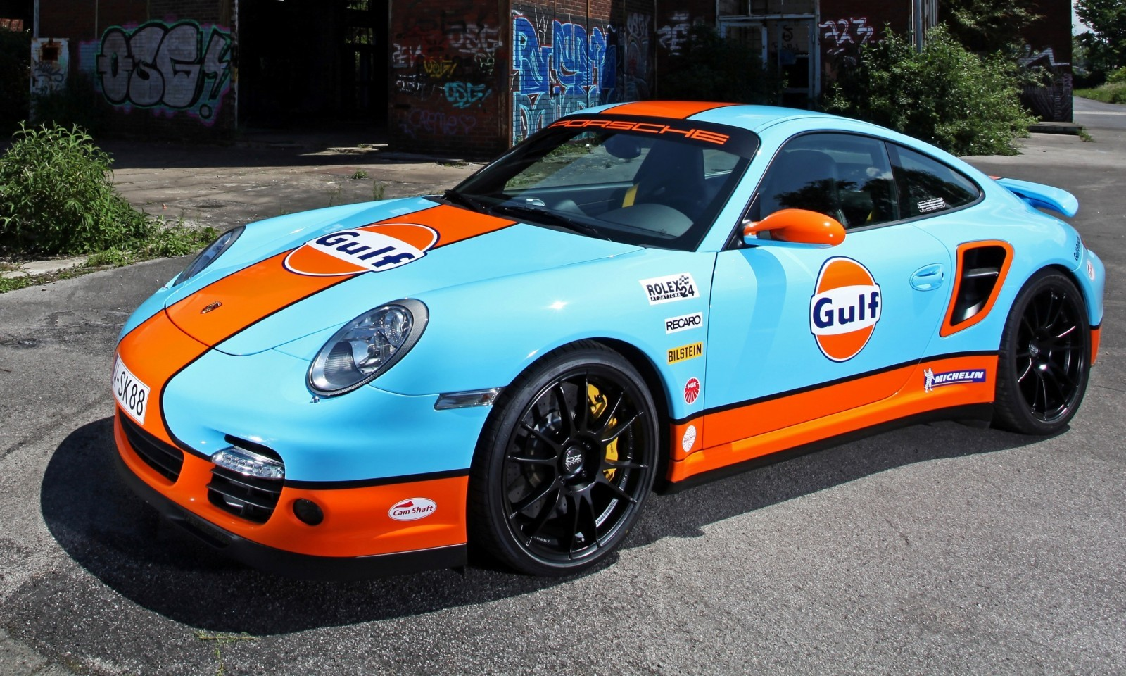 Gulf Racing Livery by CAM SHAFT for the Porsche 911 Turbo 19
