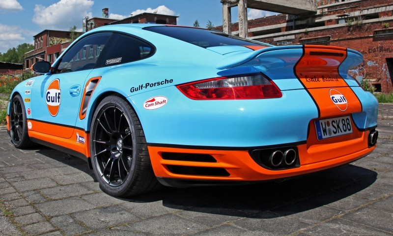 Gulf Racing Livery by CAM SHAFT for the Porsche 911 Turbo 3