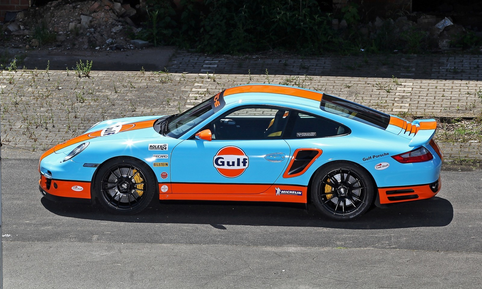 Gulf Racing Livery by CAM SHAFT for the Porsche 911 Turbo 4