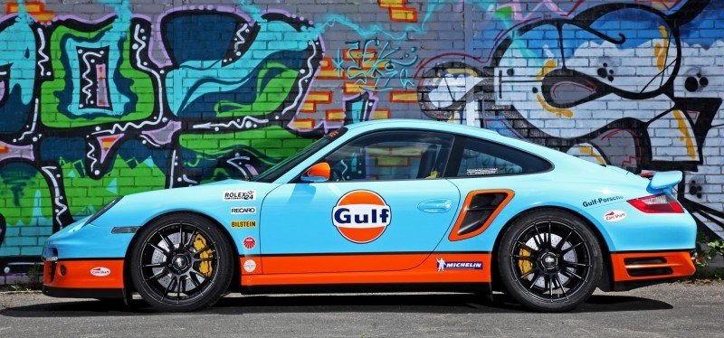 Gulf Racing Livery by CAM SHAFT for the Porsche 911 Turbo 9